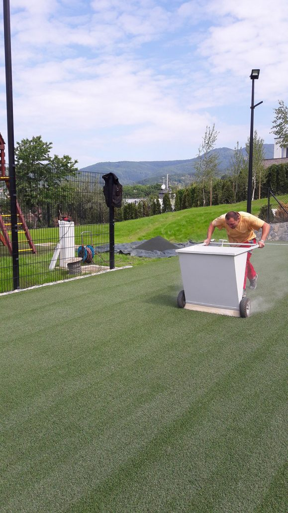 Private Football Field Installation Of Artificial Grass